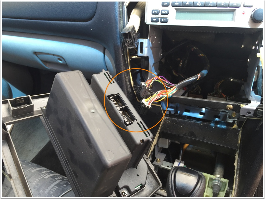 How To Remove Original Car Cd Player From Mitsubishi Magna Es Tl 2004 Wiring Diagram 07 Disconnect The Two Harnesses