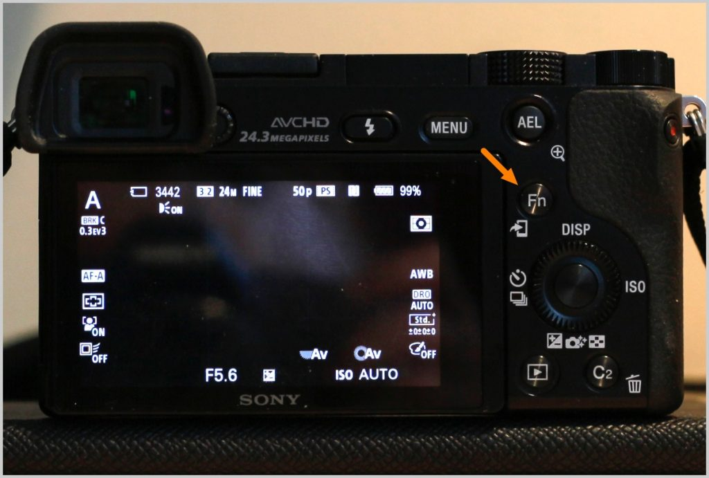 1-while-in-shooting-mode--press-the-the-fn-button-to-bring-up-the-settings-menu