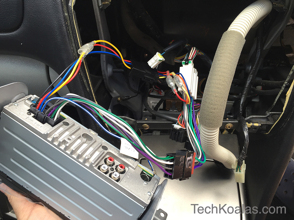 How To Install A New In Car Digital Player With Bluetooth Sony Wiring Harness Replacement 10 Connect Unit