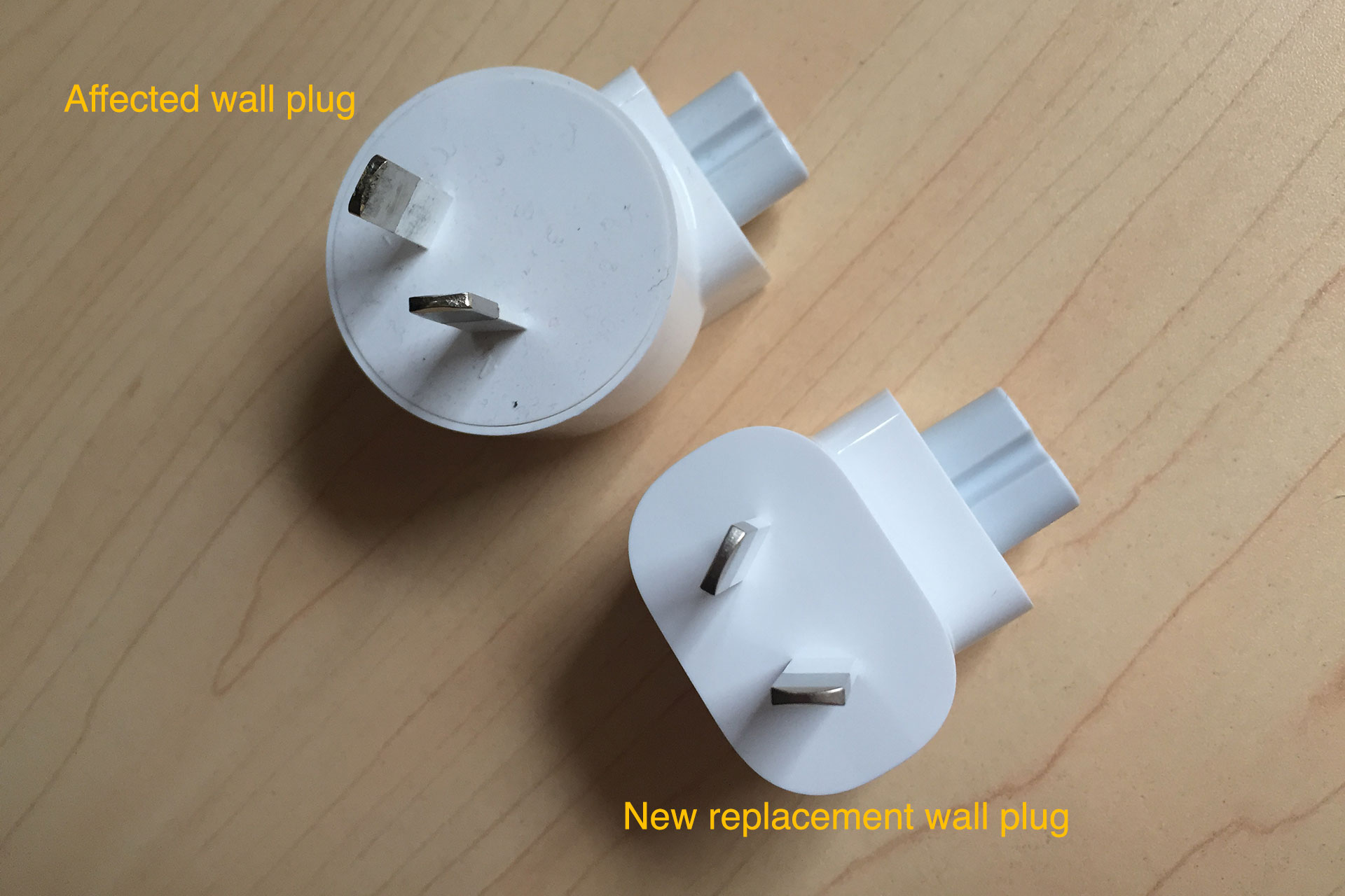 Photo of New Apple AC wall plug arrived in the mail