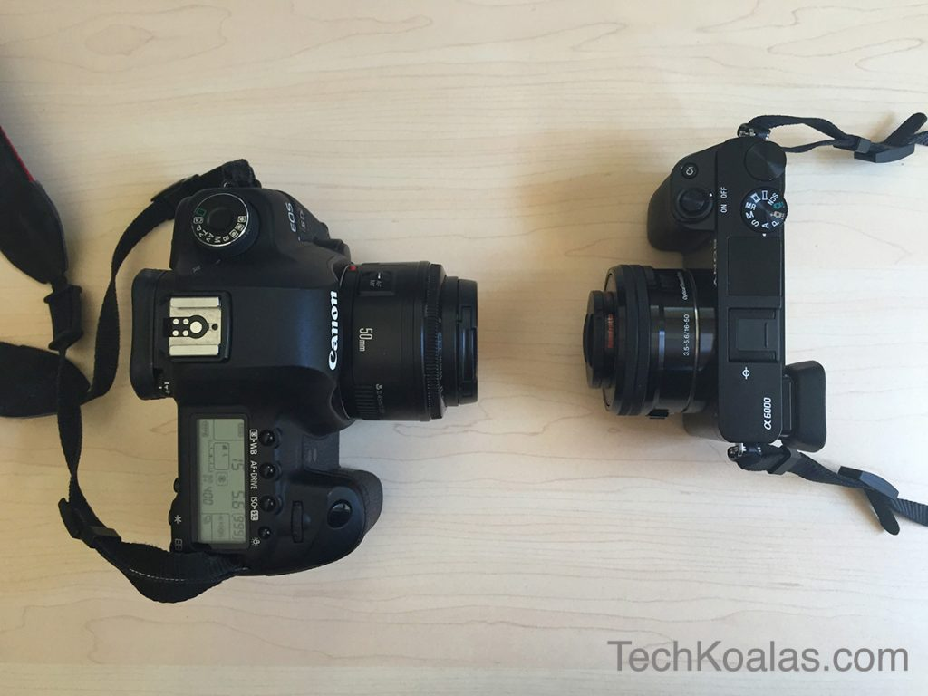Sony-mirrorless-camera-A6000-and-Canon-5D-Mark-II-side-by-side-2