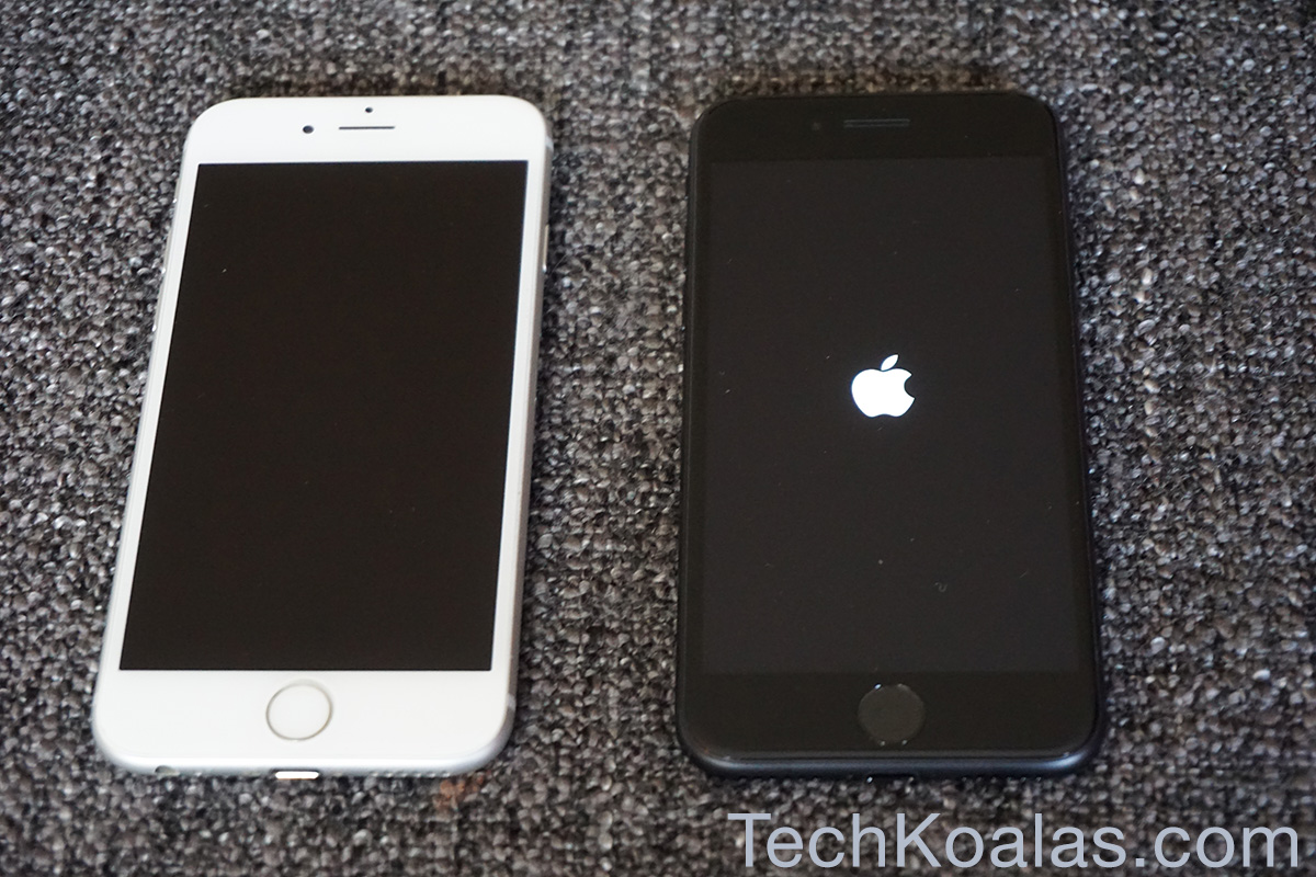 iPhone 7 side by side iPhone 6