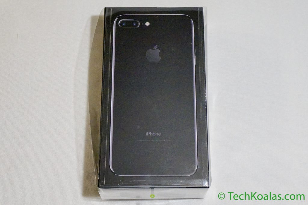 The iPhone 7 Plus Jet Black comes in an all black box.