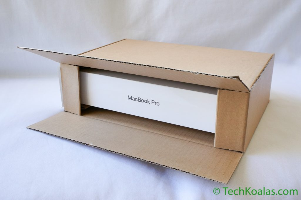 There was just a centimeter or so of gap between the MacBook Pro box itself and the packaging.
