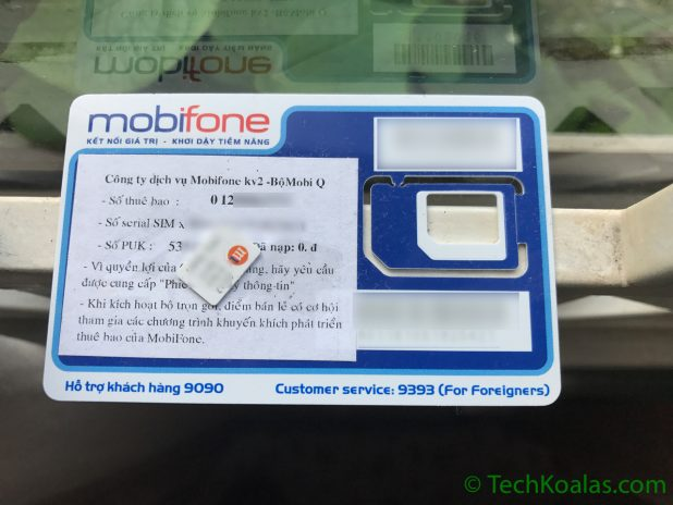 mobifone 4G Sim Card comes with a phone number and unlimited data for high-speed internet