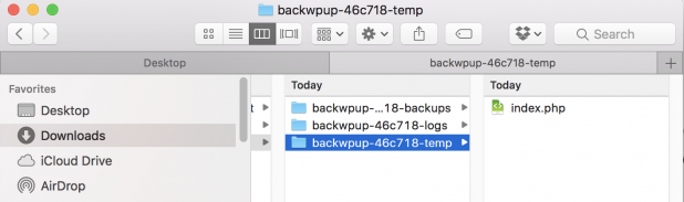 """Figure 1. By default files with names beginning with a dot """"."""" are not shown in Finder on MacOS."""